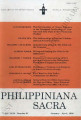 Philippiniana Sacra ; Volume 31, number 0091 (January - April 1996)