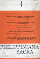 Philippiniana Sacra ; Volume 32, number 0094 (January - April 1997)