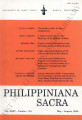 Philippiniana Sacra ; Volume 35, number 0104 (January - April 2000)
