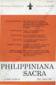 Philippiniana Sacra ; Volume 31, number 0092 (May - August 1996)