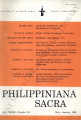 Philippiniana Sacra ; Volume 33, number 0098 (May - August 1998)