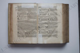 "Inside pages of the book ""De Medica Materia Libri V"""