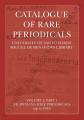 Catalogue of rare periodicals : University of Santo Tomas Miguel de Benavides Library. Vol.4, Part...
