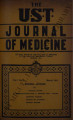 The UST Journal of Medicine ; Volume 1, number 4 (March 1941)