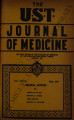 The UST Journal of Medicine ; Volume 1, number 5 (May 1941)