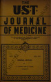 The UST Journal of Medicine ; Volume 1, number 6 (July 1941)