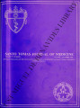 Santo Tomas Journal of Medicine (formerly 'The UST Journal of Medicine') ; Volume 37, number 4...